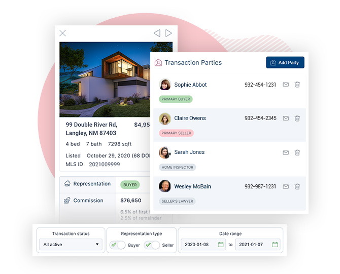 Real Estate CRM with Transaction Management